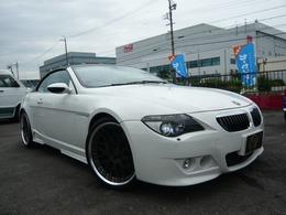 BMW 6シリーズカブリオレ 645Ci 本革パワーシート社外アルミ社外マフラー