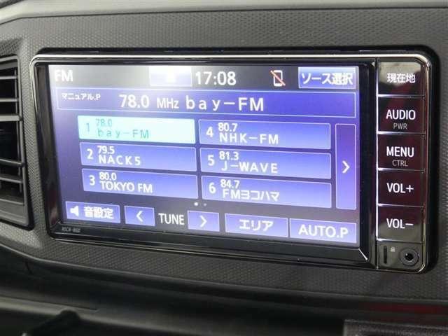 オーディオはラジオ・テレビ・CD・SDカード・Bluetoothとなります。