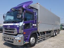 UDトラックス クオン アルミウイング 3軸高床 ラッシング2段 荷台内寸956×238×241 アルミウィング