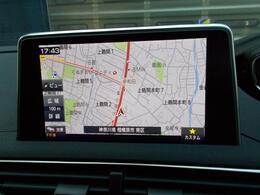 8インチタッチスクリーン エアコン操作メディア再生ハンズフリー通話ドライバーアシスタンスナビゲーション機能(オプション装着済)などの情報表示と操作系が集約されています。 PEUGEOTミラースクリーン