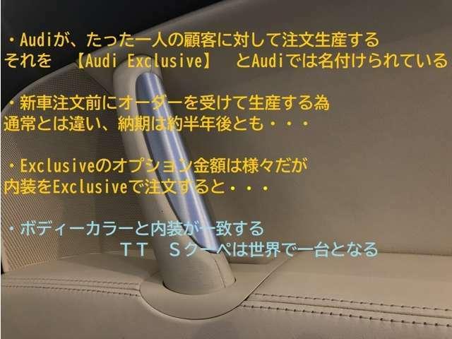 Audi Exclusiveとはどんなものなのか、ご存知だろうか・・・出来るコトならば・・・読んで頂きたいhttps://www.audi.co.jp/jp/web/ja/brand/quality/audi_exclusive.html