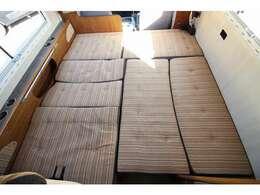 ダイネットベッドは200×175!