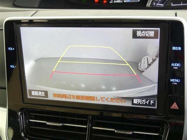 バックモニターは車庫入れの強い味方。 車は構造上、死角がたくさん。でもっ!後退時の死角をチェックするために便利ですよ。 ただし、バックは目視で確認する事が重要ですよネっ☆