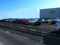 常時150台以上の高品質なモデルを第二駐車場にご用意しております。ご試乗も随時承っております(ご予約制)。