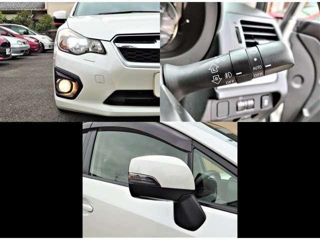 純正ディスチャージヘッドライト&フォグランプ付☆ドアミラーウィンカー付で安心安全ドライビング◎オートライト付で外の明るさに応じてライトは自動でオンオフ♪トンネルなどで点けたり消したりの操作不要♪