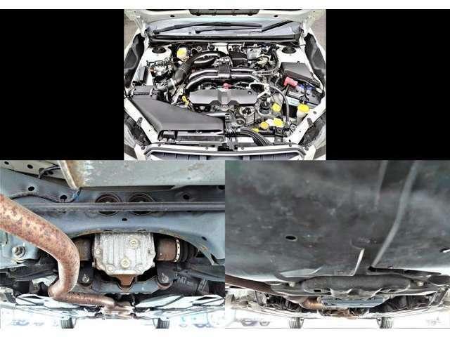 エンジンルームも大変綺麗です♪意外と見落としがちな下廻りもOK◎サビ・腐食・擦り・ヘコミ等も勿論無く安心の一台です☆特に下廻りのサビには要注意!特に4WD車は必見です♪