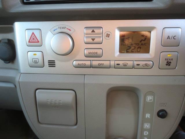 オートエアコンは各スイッチも使い易いレイアウトなので操作に困りません(^o^)v
