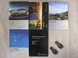 各種取扱説明書、整備記録簿、スペアキー等ございます。整備記録簿はH26・H27・H28・H29・H30 全部で5枚の整備記録簿が御座います。M・ベンツ正規ディーラーでも整備されてきた素晴らしいお車です。