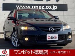 マツダ アテンザスポーツワゴン 2.3 23EX ブラウンレザースタイル 茶色革シート メモリーシート オーディオ