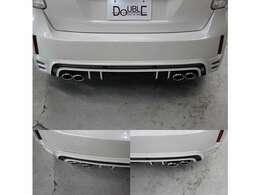 トミーカイラ4本出しマフラー装備。画像は左右です(マフラー出口のみROWEN取付)現在はトミーカイラからブランド名をROWENへ統合した為、当時と同じデザインの物でもエンブレムはROWENとなります。