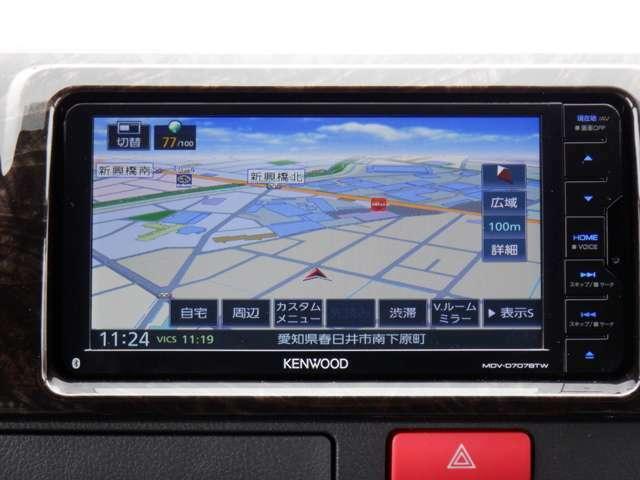 SDナビTV/Bluetooth/DVD再生/ETC/パノラミックビュー/デジタルインナーミラー/セーフティセンス/ESSEX Fリップスポイラー/ EC17inAW/2inローダウン/ベッドキット
