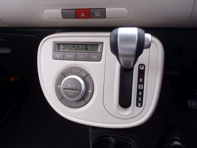 大きなダイヤルで温度設定も簡単♪使いやすいフルオートエアコンです。