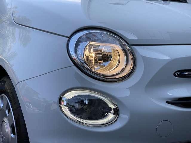 かわいいフィアットのデイライト!LEDで視認性が高いです。