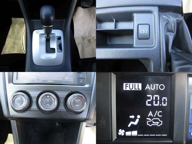Sモード付CVTオートマチックで、燃費・レスポンスも良好です。 フルオートエアコンで、車内は何時も快適です。