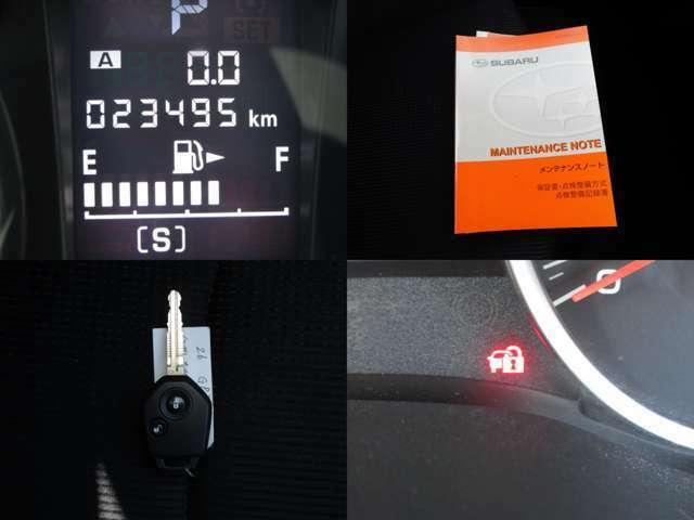 走行少なし23495キロの実メーターで、記録簿付です。 イモビライザーセキュリティ付キーレスエントリーで、盗難防止 車検も令和3年3月まで