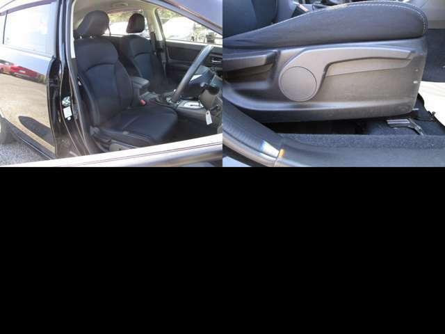 フロントシート 運転席にはシートリフター(シート上下調整)機能が付いています。 シート類も問題無し