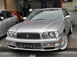日産 セドリック 2.5 グランツーリスモ プライムエディション 黒本革インテリアカールソンアルミHIDETC