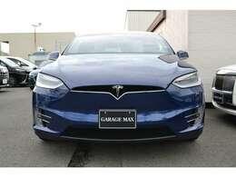 Tesla Model X 100D 4WD 6人乗り Deep Blue Metallic ウルトラホワイトレザーシート  シートヒーター エンハンストオートパイロット ファルコンウィング
