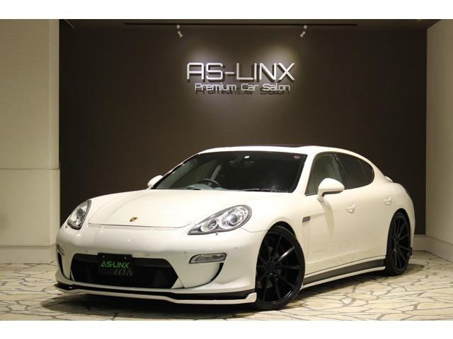 PorscheパナメーラS・スポーツクロノパッケージ・フェアリーデザインエアロ・パワークラフト可変マフラー・VOSSEN22インチアルミ・ブラックレザーシート・シートベンチレーター