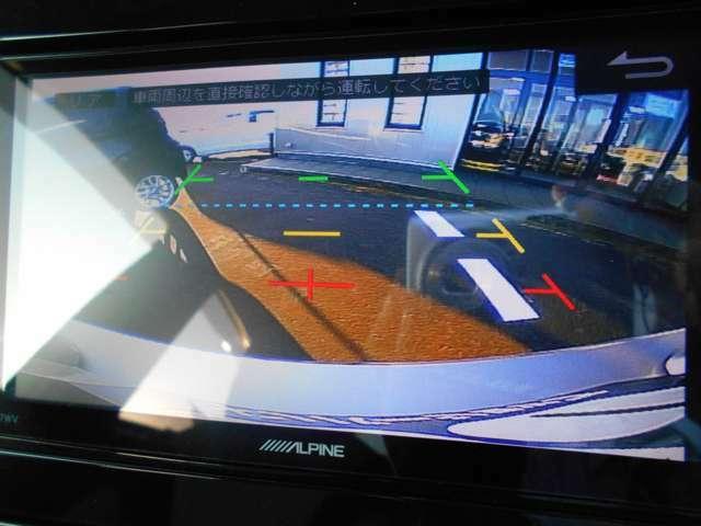 ガイド付きのバックカメラ装備で、狭い駐車場などでも安心してバックできます☆