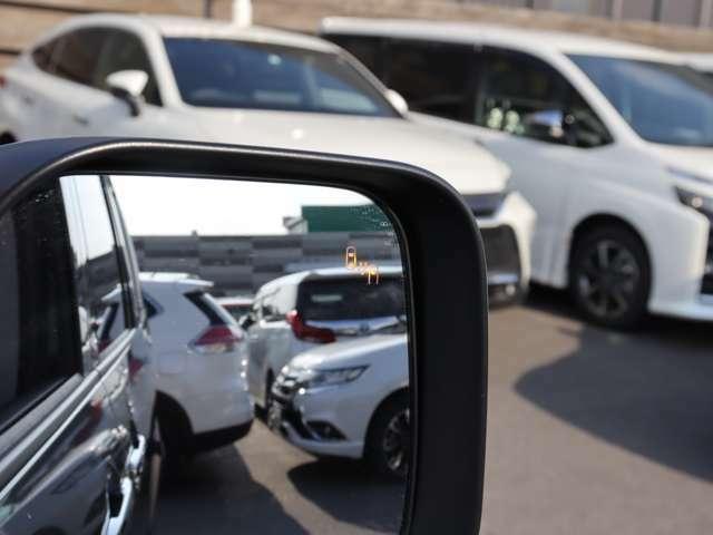 【 後側方車両検知警報システム(BSW/LCA)】Pには標準搭載!後方のレーダーで後側方からの接近車両を検知!ドアミラーのインジケーターを点灯させることでお知らせしてくれます!