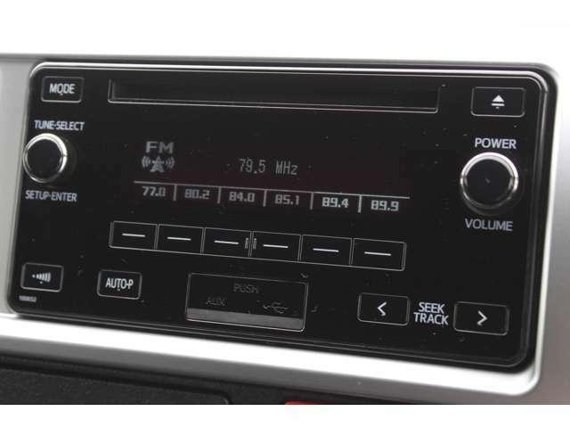純正AMFMラジオ内臓CDステレオ(AUX+USB端子付)が装備されています。★カーナビが必要なお客様は、Aプラン(カーナビゲーション付)を是非ご検討ください。