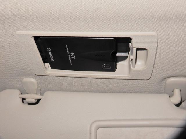 【スマートインETC】サンバイザーの裏に隠されたスマートインETCが付いております!再セットアップで使用可能!設置場所が隠れていますので防犯上も安心ですね。