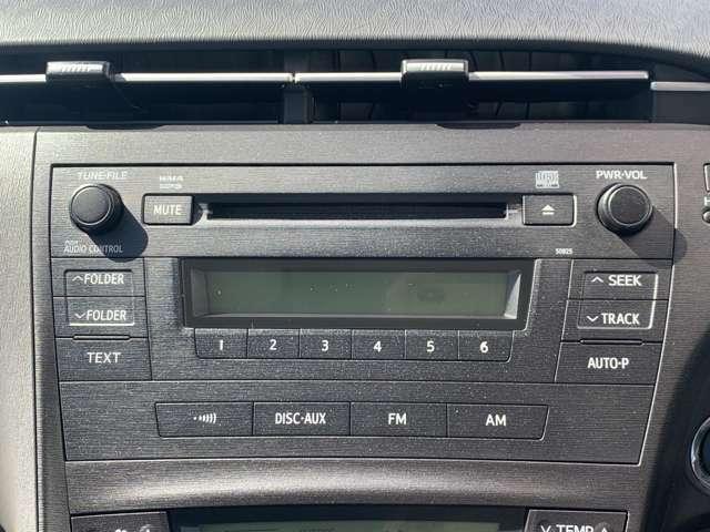 純正オーディ:CD再生・AUX接続可能!