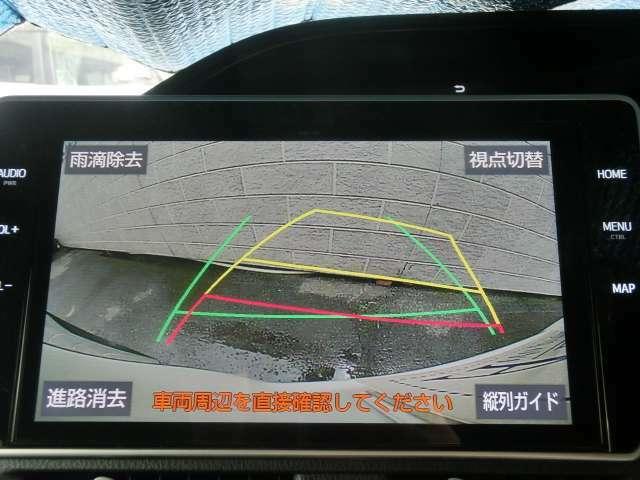 バックカメラはミニバンの必需品の一つですね!カラーガイドバックモニターですので駐車場に停める際に後方確認がしやすく障害物や人影がある時など事前に危険回避することができます!