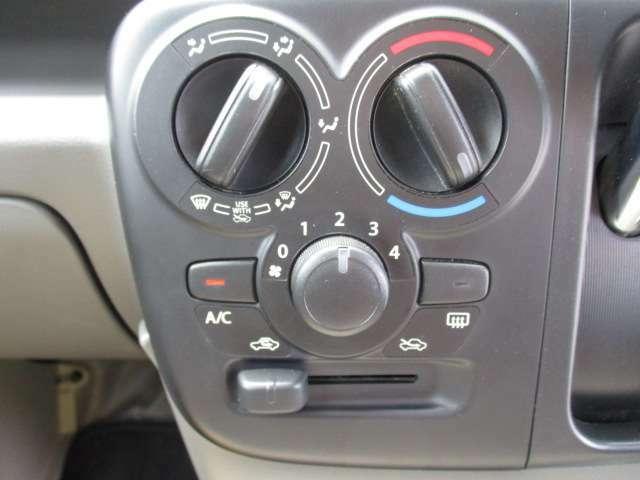 エアコンはマニュアル操作になります。お好きな風量、温度で調整してください。