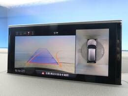 ●360度カメラ『不安な駐車もモニターで全周囲が見渡せるのこれで安心ですね!』