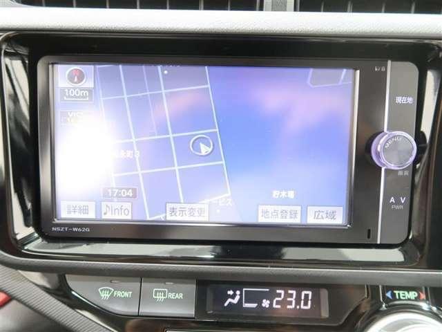 NSZT-W62Gフルセグチューナー付きメモリーナビで初めての場所や道も安心です。