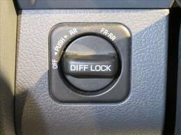 メーカーオプションのデフロック装備。