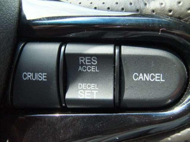 走行中に便利なクルーズコントロールが搭載されています
