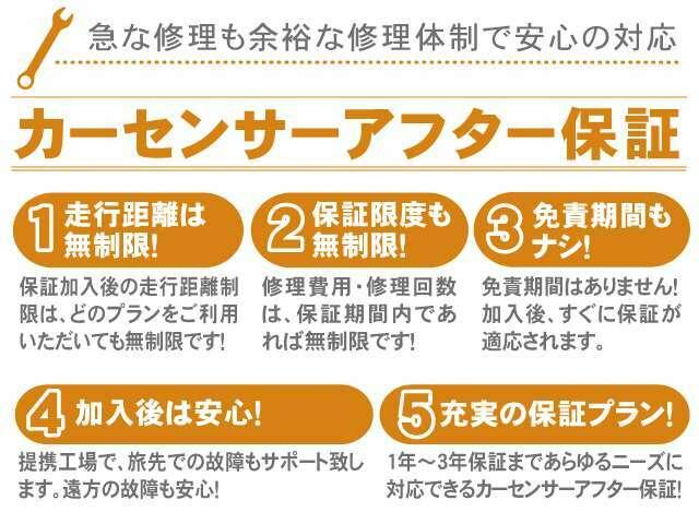 Aプラン画像:■保証期間は6ヶ月、1年、2年とお選び出来ます(料金はお問合せ下さい)
