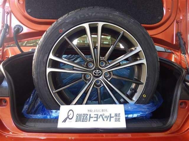積み込みタイヤ(215/45R17)純正アルミホイール付き夏タイヤ