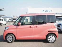 鮮やかなピンクのボディカラーで、オシャレなお車です♪