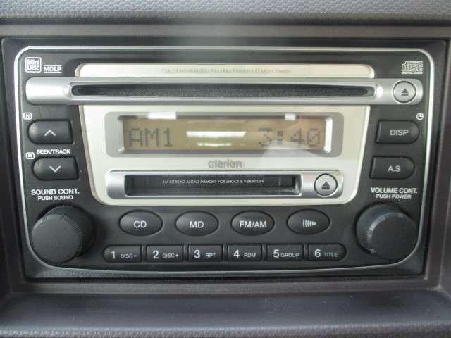 ☆CD、MDデッキ装備!!お気に入りの音楽でドライブの時も楽しく過ごせます♪