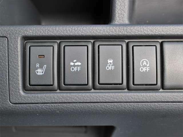 シートヒーターを装備しておりますので冬場でも冷たい思いをしません★暖房より早く温まるので快適です♪