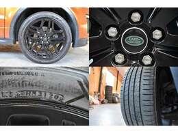 タイヤは20インチでタイヤサイズ 245/45/20 ブリジストン 2020年製7分山!!20インチとなるとタイヤ交換でも費用が掛かりますが交換の必要も御座いませんのでご安心下さい!!