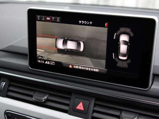 車両の上からバーチャルで確認サラウンドビューカメラ付き