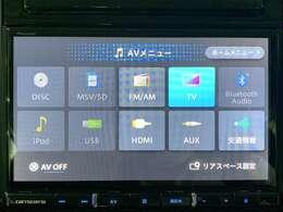 【社外9型ナビ(AVIC-RL70)】Bluetooth/フルセグTV/CD/DVD/HDMI