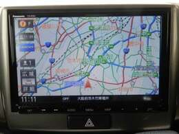 メモリーナビ搭載。操作性が良く、地図のデータ情報量や検索スピードの速さが魅力です。