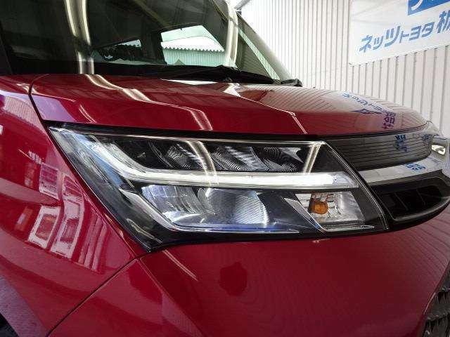 少ない消費電力でクリアな視界を確保するLEDヘッドライトです!ナイトドライブも安心です!