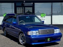 トヨタ クラウンワゴン 2.5 ロイヤルサルーン ベンコラ8人ブルメタ全塗装・希AWリボンT