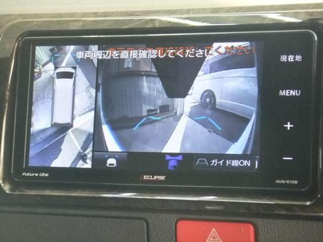 メーカーオプション:パノラミックビューモニター装着でナビ画面に360度 画像を映し出します!
