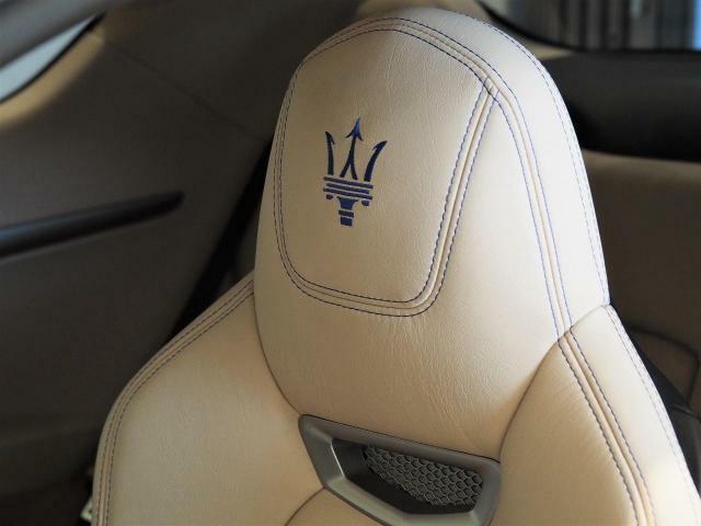 ヘッドレストに施されたトライデントステッチが車内に花を添えます。