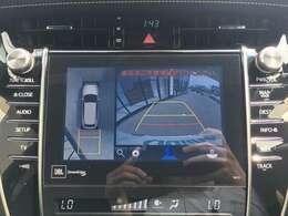 【パノラミックビューモニター】 真上から見たような映像が流れ、便利かつ大変見やすく安全確認もできます!駐車が苦手な方にもオススメな便利機能です!