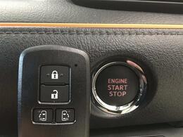 【スマートキー&プッシュスタート】『鍵を挿さずにポケットに入れたまま鍵の開閉、エンジンの始動まで行えます。』