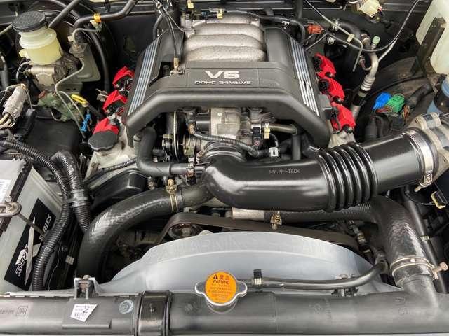 V型6気筒DOHC24バルブ!!出力:215ps(158kW)/5600rpm!!エンジン、ミッション等コンディション良好です!!
